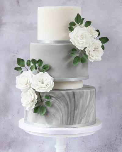 Grey-Rose-Wedding-Cake-Honey-Lane-Bakery-Henley-2-scaled